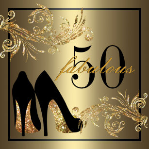50th birthday invitations zazzle dancing shoes fabulous 50th birthday invitation filmwisefo
