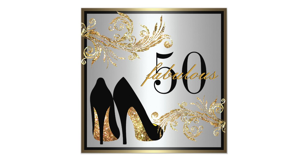 Dancing Shoes - Fabulous 50th Birthday Invitation | Zazzle.com - photo#50