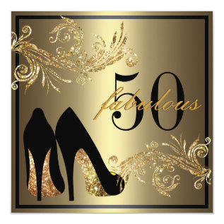 Dancing Shoes - Fabulous 50th Birthday Invitation at Zazzle