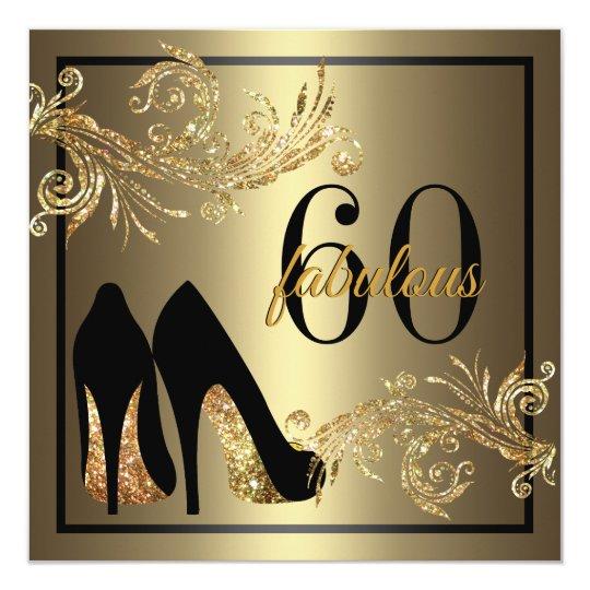 Dancing Shoes Fabulous 60th Birthday Invitation Zazzle Com