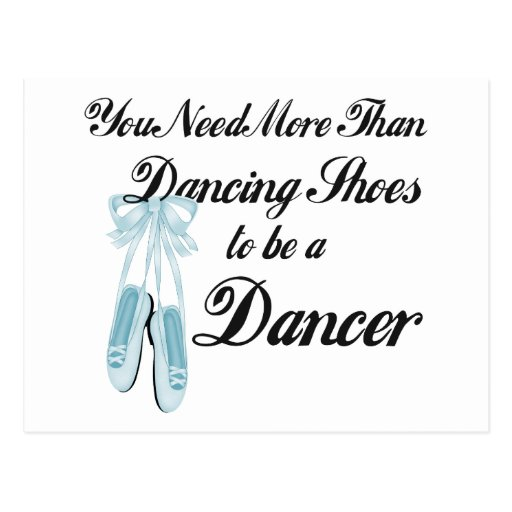 Dancing Shoes Postcard