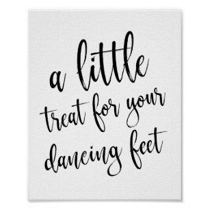 a4c8261aeb9294 Dancing Shoes Shoes Black and White 8x10 Sign