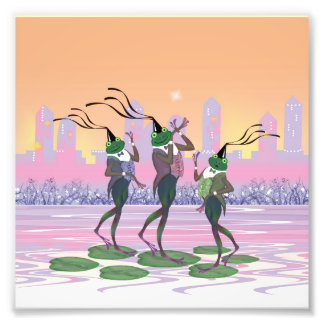 Dancing Singing Party Frogs Photographic Print