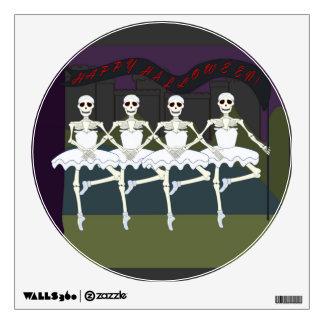 Dancing Skeleton Ballerina Tutu Funny Halloween Room Decal