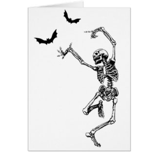 Dancing Skeleton Birthday Card