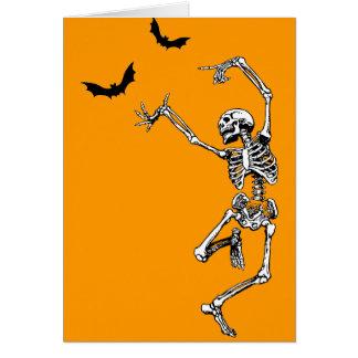 Dancing Skeleton Greeting Card