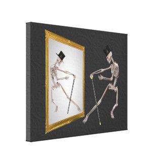 Dancing Skeleton Fantasy Stretched Canvas Prints