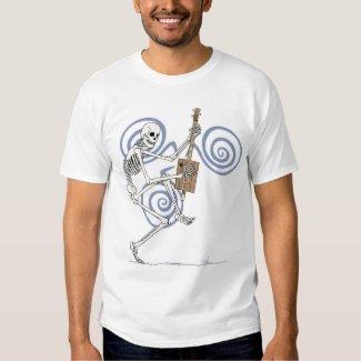 Dancing Skeleton Guitarist Tee Shirt