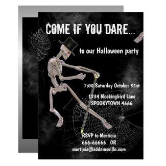 Dancing Skeleton Halloween Invitation
