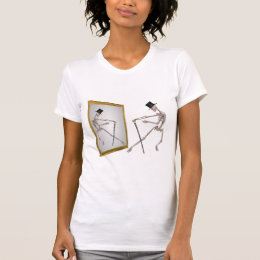 Dancing Skeleton In Mirror Funny T Shirt