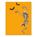 "Dancing Skeleton invitation card 4.25"" X 5.5"" Invitation Card"