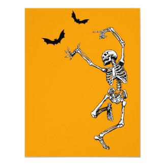 Dancing Skeleton invitation card