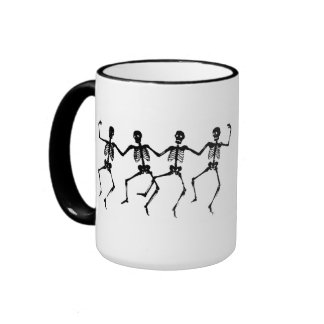 Dancing skeleton mug