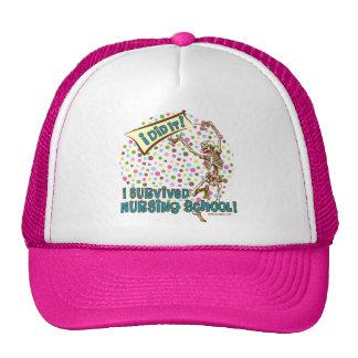 Dancing Skeleton Nursing School Survivor Hat