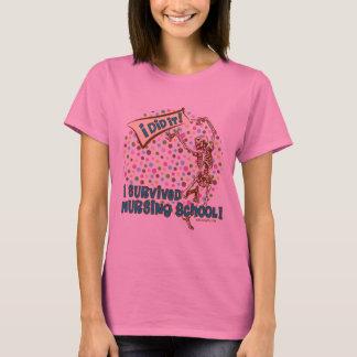 Dancing Skeleton Nursing School Survivor T-Shirt
