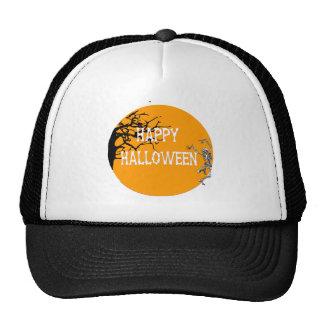 Dancing Skeleton Orange Moon Hats