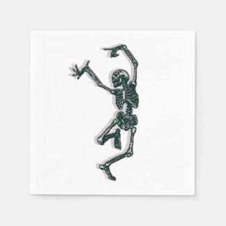 Dancing Skeleton Standard Cocktail Napkin
