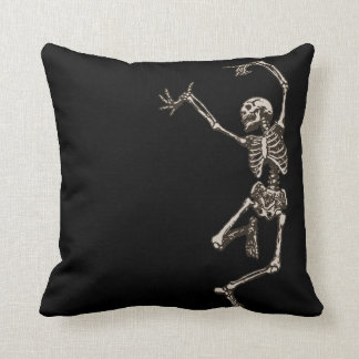 Dancing Skeleton Throw Pillow