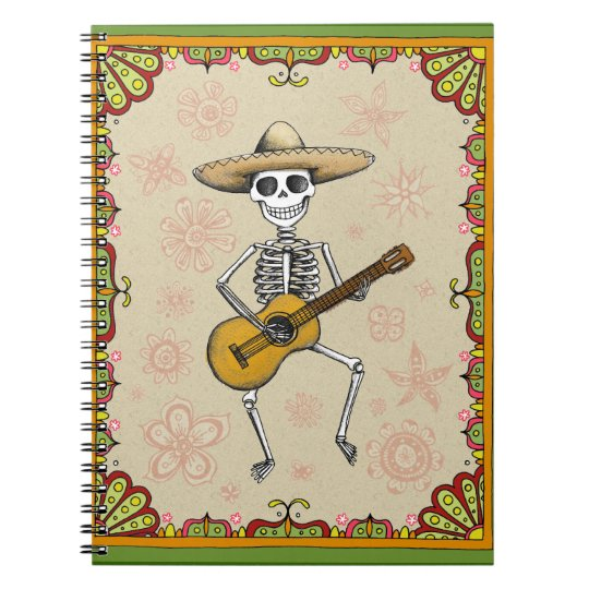 Dancing Skeleton Playing Guitar Notebook / Journal