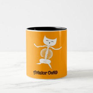 Dancing Skeleton Two-Tone Coffee Mug