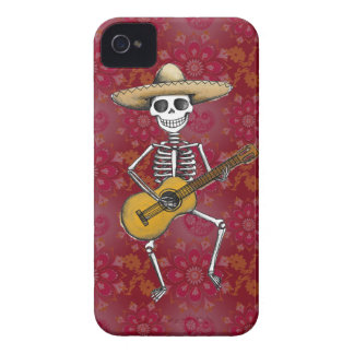 Dancing Skeleton with Guitar Blackberry Bold Case