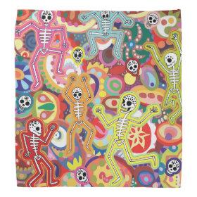 Dancing Skeletons Bandana - Day of the Dead Art