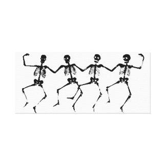 Dancing Skeletons (blacknwhite) Canvas Print
