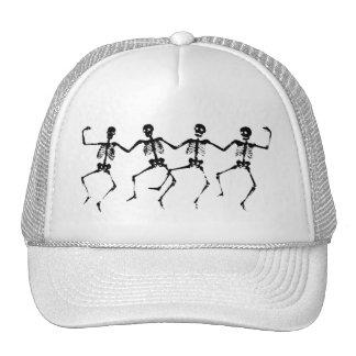 Dancing Skeletons (blacknwhite) Hat