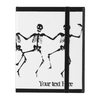 Dancing Skeletons (blacknwhite) iPad Cases