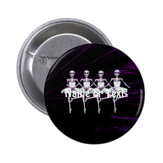 Dancing skeletons pinback button