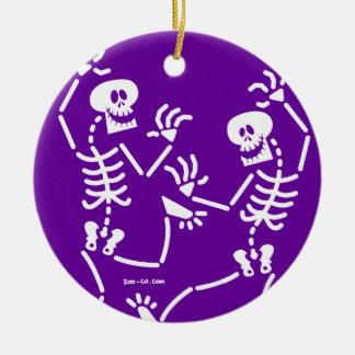 Dancing Skeletons Ceramic Ornament