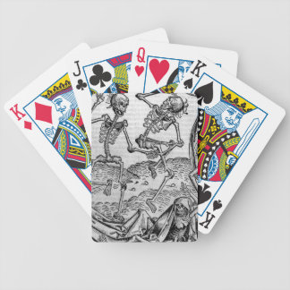 Dancing skeletons, 'Dance of Death' Bicycle Playing Cards
