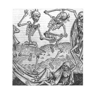 Dancing skeletons, 'Dance of Death' Notepad