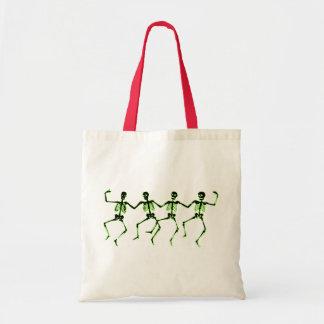 Dancing Skeletons, Green Glow Tote Bag