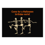 Dancing Skeletons Halloween Birthday Party Invite