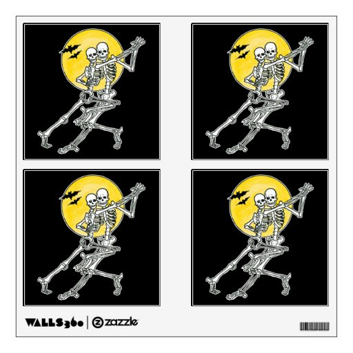 Dancing Skeletons Halloween Party Pack Wall Sticker