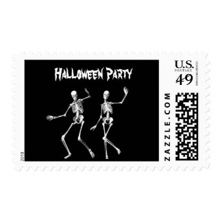Dancing Skeletons Halloween Stamp