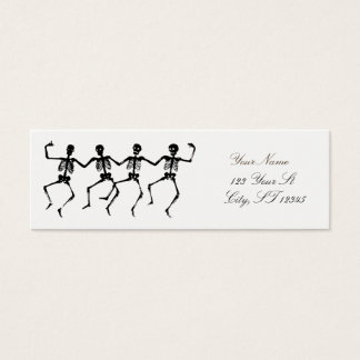 Dancing Skeletons Halloween Thunder_Cove Mini Business Card