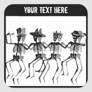 Dancing Skeletons (HolidayMix) Square Sticker