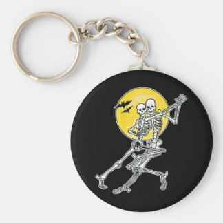 Dancing Skeletons Keychain