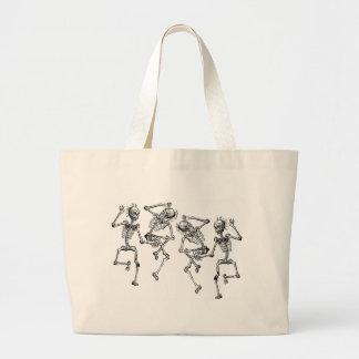 Dancing Skeletons Large Tote Bag