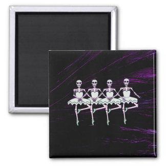 Dancing skeletons fridge magnet
