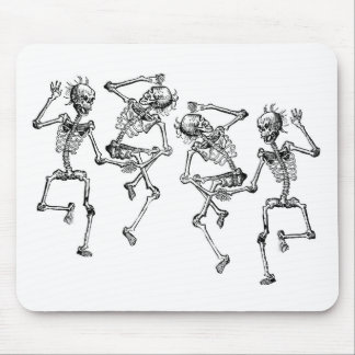 Dancing Skeletons Mouse Pad