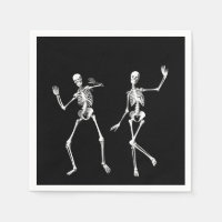 Dancing Skeletons Napkin