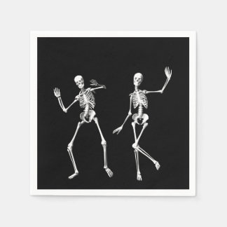 Dancing Skeletons Napkin Standard Cocktail Napkin