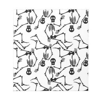 Dancing skeletons notepad