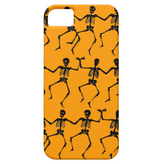 Dancing Skeletons Orange iPhone 5 Case