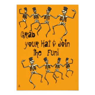 Dancing Skeletons Party Card