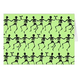 Dancing Skeletons Pattern Greeting Card
