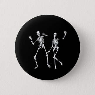 Dancing Skeletons Pinback Button